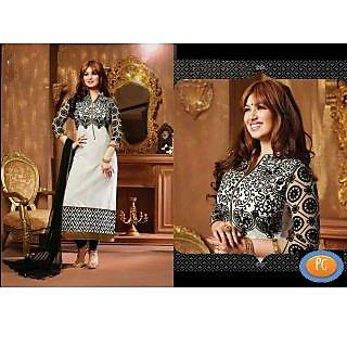 Ayesha Takia Long Cotton White Salwar Kameez Suit