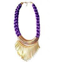 Rajat Fashion Purple Metal Bead Fashion Necklace