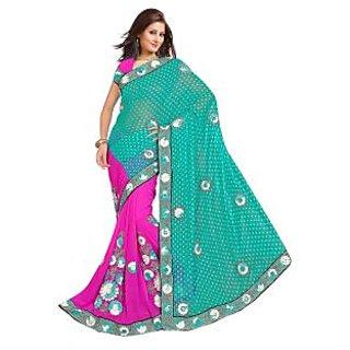 Designer Jazzy Multi Color Embroider Saree