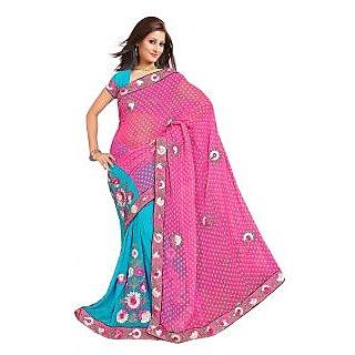 Designer In Vogue Multi Color Embroider Saree