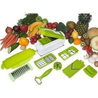 Snacthdeals Multi Chopper Vegetable Cutter Fruit Slicer Peeler Nicer Dicer Plus