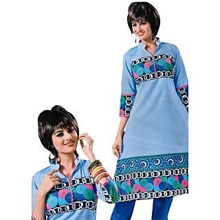 Bansal Collection Pehchan Printed Cotton Suit With Dupatta - 75135942