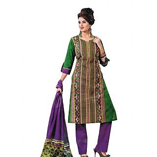 Bansal Collection Pehchan Printed Cotton Suit With Dupatta - 75136198