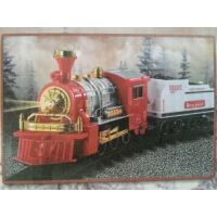 TOY TRAIN WITH HEAD LIGHT HORN &TRACK & ! SOUND BUMP & GO GIFT TOY FOR KIDS
