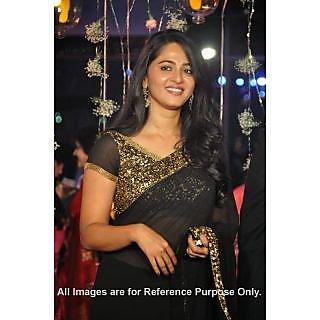 Anushka Shetty Hot Spicy Black Saree