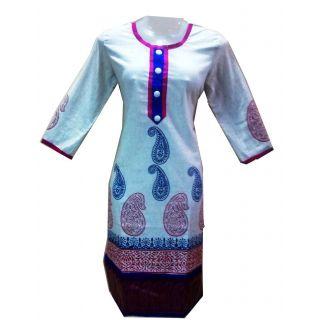 Khadi Cotton Kurtis  For Girls  (Size 42(L)),Kurti,Khadi Kurti,cotton Kurti,