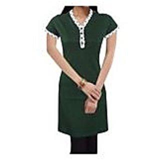 Splendid Green Knitted Cotton Kurti