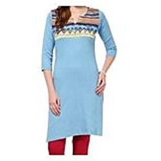 Blue Knitted Cotton Kurti