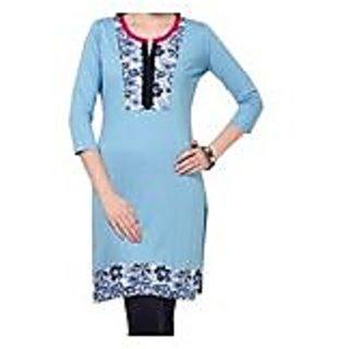 Endearing Blue Knitted Cotton Kurti