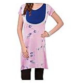 Mesmerizing Pink Knitted Cotton Kurti