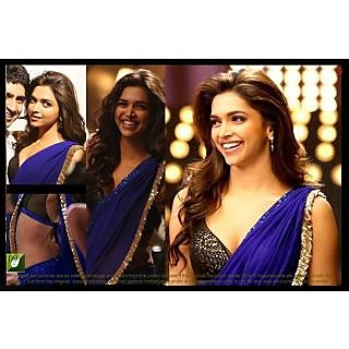Bollywood Royal Blue Deepika Padukone Saree