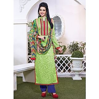 Vastrani Green & Red Coloured Embroidered Salwar Suit 189D745