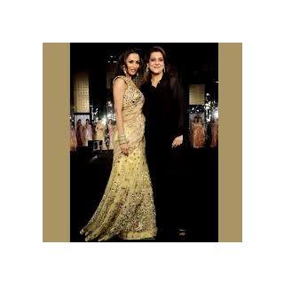 Richlady Fashion Malaika Arora Net Zari Work Beige Lehnga Choli