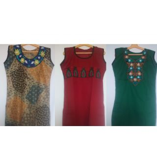 Cotton Kurti (Pack Of 3)