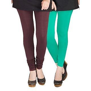 Medoo Womens Viscose Lycra Legging-Black-Green