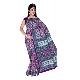 Designer Cotton Saree With Blouse