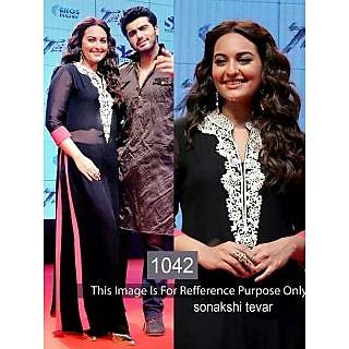 Sonakshi Black Dress In Georgette By Purple Oyster