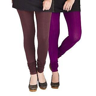 Medoo Womens Viscose Lycra Legging-Black-Purple