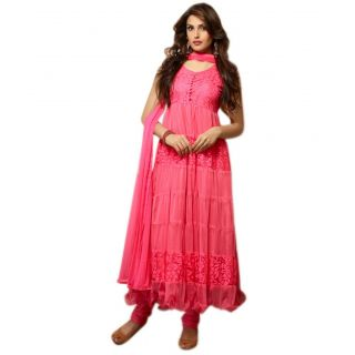 Madhav Enterprise Pink Braso Net Designer Party Wear Dress Md10006