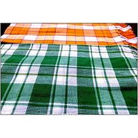 BATH TOWEL--COTTON TOWEL--A Set Of Two South Indian Towels-- Size 30 X 60
