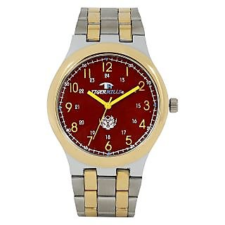 TIGERHILLS 3D GLASS TWO TONE ANALOG STAINLESS STEEL WATCH