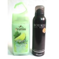 Fruttini Lime Mint Shower Gel (250 Ml) With Royale Deo Body Spray (270 Ml)