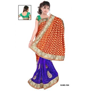 Embroidery Saree Viscose & Net