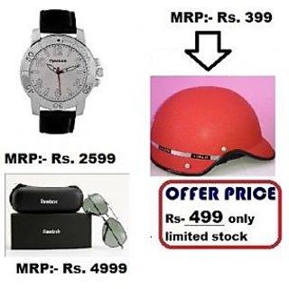 Combo Reebok Core Watch + Helmet (toip Color) + Reebok Sunglass