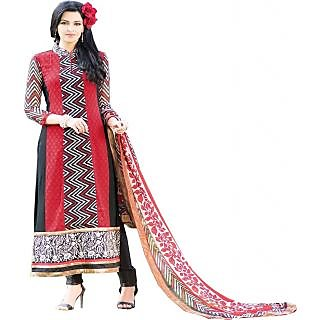 Gaargee Stylish Fashions Red Pakistani Dress Material
