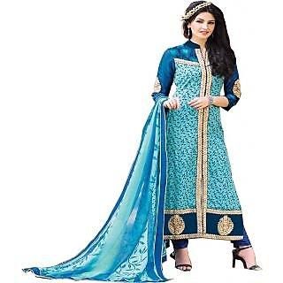 Gaargee Stylish Fashions Blue Pakistani Dress Material
