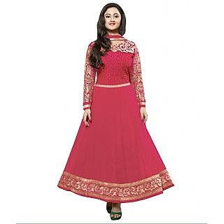 Madhav Enterprise Pink Georgette Designer Party Wear Dress Md10022