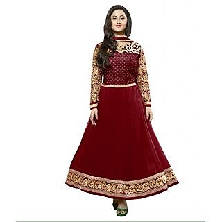 Madhav Enterprise Red Georgette Designer Party Wear Dress Md10024