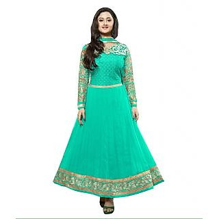 Madhav Enterprise Sky Blue Georgette Designer Party Wear Dress Md10026