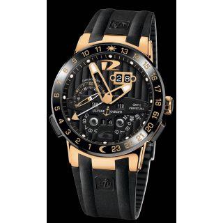 Ulysse Nardin El Toro Chronograph Men's Wrist Swiss Watch Black Rose Gold