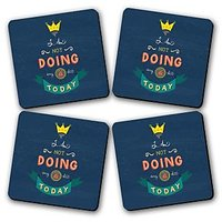 Not Doing Any Shit Today Printed Wooden Kitchen Coaster Set Of 4