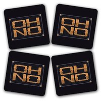 Oh No ! Printed Wooden Kitchen Coaster Set Of 4