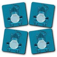 Torture Printed Wooden Kitchen Coaster Set Of 4
