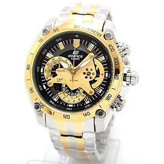 Casio Watch Edifice EF 550D Gold Two Tone Chronograph (New In Box) 1 Year Warranty - 75198846