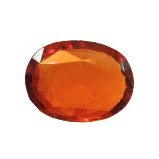 Gomed (Hessonite) Cts. 3.52 Ratti 3.87 With Freebie Five Mukhi Rudraksha