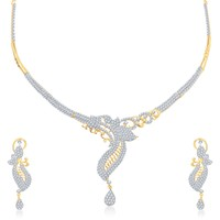 VK Jewels Supershine Gold Plated Necklace With Earrings- NKS1136G