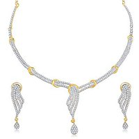 VK Jewels Classic Gold Plated Necklace With Earrings- NKS1137G