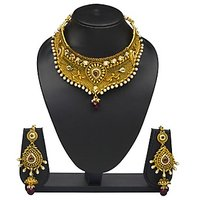 VK Jewels Wonderful Gold Plated Choker Necklace With Earrings- NKS1166G
