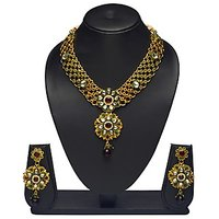 VK Jewels Bewitching Gold Plated Necklace With Earrings- NKS1168G