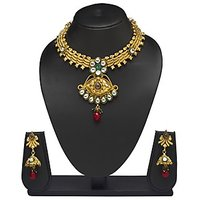 VK Jewels Marvelous Gold Plated Necklace With Earrings- NKS1169G