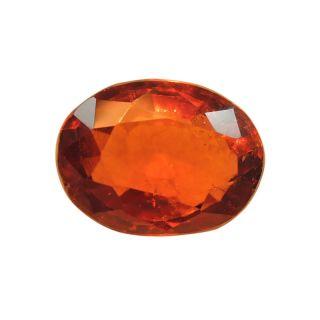 Gomed (Hessonite) Cts. 3.99 Ratti 4.38 With Freebie Five Mukhi Rudraksha