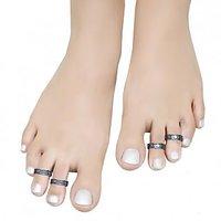 Aman Unique Pattern Silver Toe Ring_3