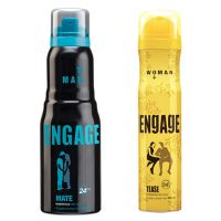 Engage  Deo (Mate, Tease) Pack Of 2- 165ml Each(men  Women)