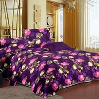 Story@Home Purple Micro Fiber And Flannel Feather Double 1 Double Queen Size Dohar/Ac Quilt
