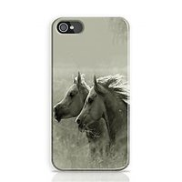 Horses Black And White Phone Case For Apple Iphone 4S And Iphone 4 I4C1030