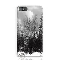 Winter Black And White Phone Case For Apple Iphone 4S And Iphone 4 I4C1282